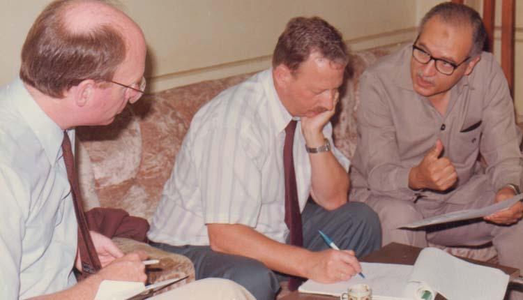 1993 - منطقة القليوبية - وفد البنك الدولي