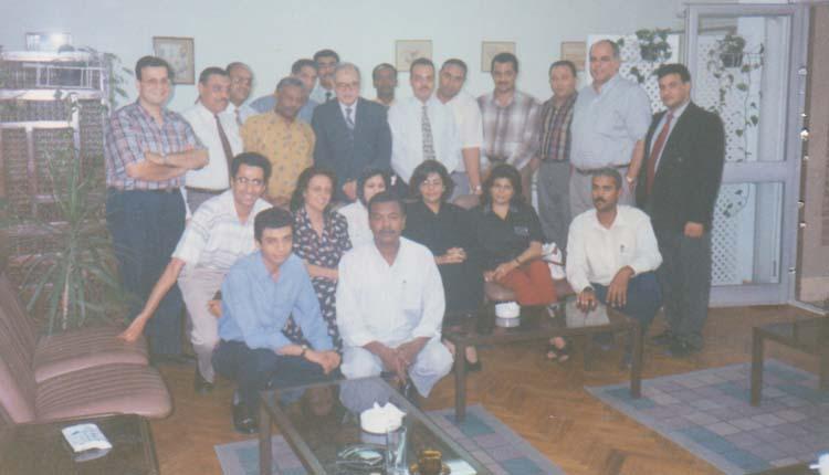 1997 - القاهرة - شركة ميج - مجموعة من الدارسين بإحدي الدورات التدريبية