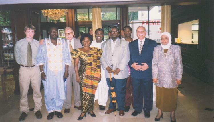 1999 - الولايات المتحدة الأمريكية - واشنطن - برنامج إصلاح التأمين الإجتماعي - فاطمه اسحق - محمد عطيه - الصياد - بعض اعضاء البرنامج