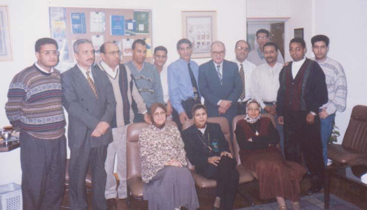 2000 - القاهرة - شركة ميج - مجموعة من الدارسين بإحدي الدورات التدريبية