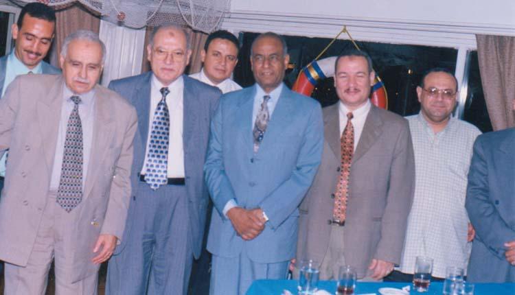 2001 - حفل التقاعد الذي أقامه الصندوق الحكومي - هشام قنديل - عمر حسن - الصياد - برين عبدالرحمن